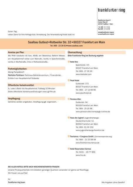 Saalbau Gutleut Rottweiler Str. 32 60327 Frankfurt am Main