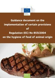 GUIDANCE DOCUMENT Implementation of certain provisions of ...