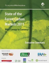 State of the Forest Carbon Markets 2011 - Forest Trends
