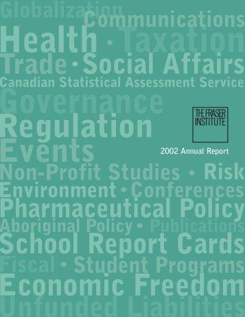 2002 Fraser Institute Annual Report