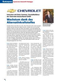 Wachstum dank des Alternativkraftstoffes - Flüssiggas-Magazin