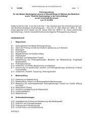 Prüfungsordnung (PDF) - Fakultät Rehabilitationswissenschaften