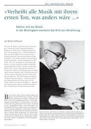 Adorno und die Musik - Forschung Frankfurt
