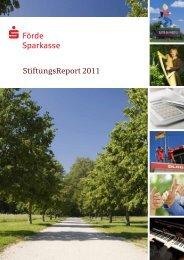 StiftungsReport 2011 - Förde Sparkasse