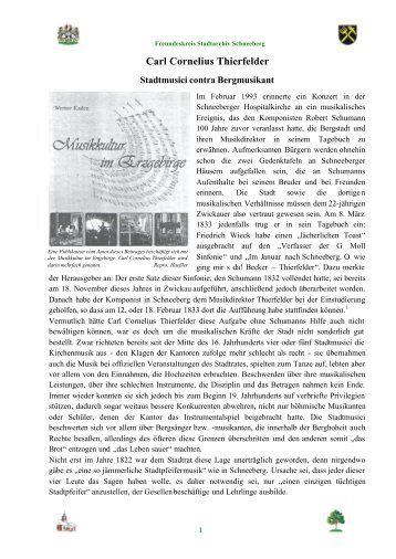 Carl Cornelius Thierfelder - Freundeskreis Stadtarchiv Schneeberg