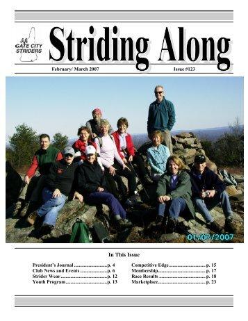 Feb-Mar 2007 - Gate City Striders