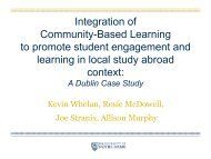 Integration of Community-Based Learning to promote student ...