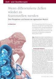 Über Perspektiven und Grenzen der regenerativen Medizin