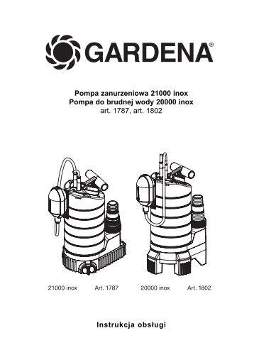OM, Gardena, Pompa zanurzeniowa 21000 inox, Art 01787-20, Art ...