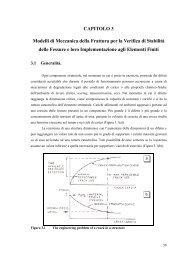 CAPITOLO 3 Modelli di Meccanica della Frattura per ... - fisica/mente