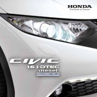 Civic 1.6 i-DTEC (PDF, 0.8 MB) - Honda