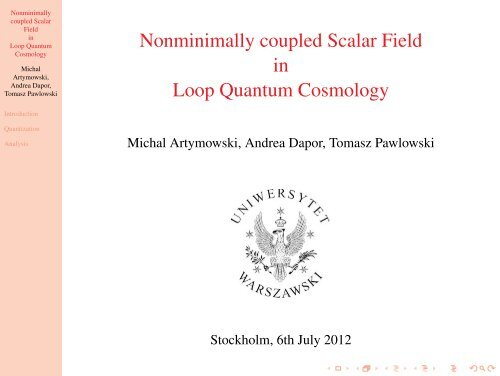 Nonminimally coupled Scalar Field in Loop Quantum Cosmology