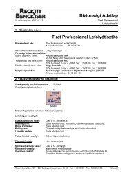 Biztonsági Adatlap Tiret Professional Lefolyótisztító - Galatea Kft.
