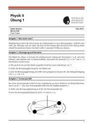 Physik II Übung 1