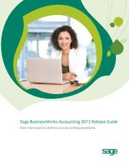 Sage BusinessWorks Accounting 2012 Release Guide