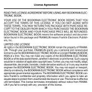 read this license agreement before using any bookman elec- tronic ...