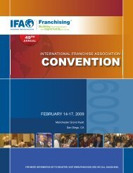 CONVENTION - International Franchise Association