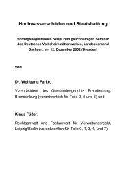Hochwasserschäden und Staatshaftung Vortragsbegleitendes Skript ...