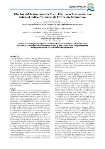 Efectos del Tratamiento a Corto Plazo con Rosuvastatina sobre el ...