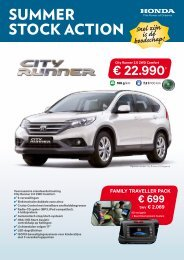 SUMMER STOCK ACTION ? 22.990* - Honda