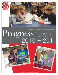 2010-2011 Annual Progress Report - Fort Dodge Community School ...