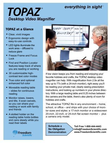 OPAL™ Portable Video Magnifier - Freedom Scientific