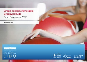 Group exercise timetable Brockwell Lido - Fusion Lifestyle
