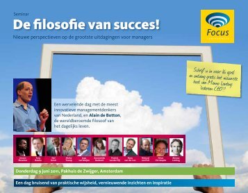 De filosofie van succes! - Focus Conferences