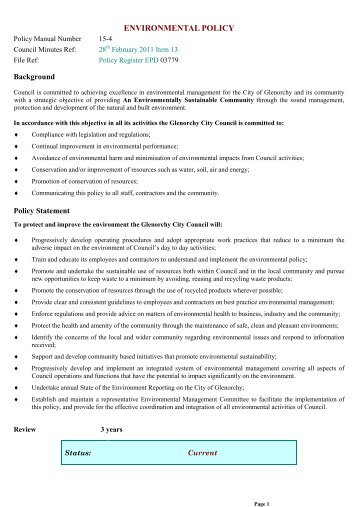 GCC Policy Template
