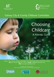 Choosing Childcare - A Parent's Guide - The Galway City & County ...