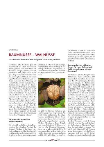 BAUMNÜSSE – WALNÜSSE - GastroBern