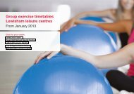 Group exercise timetables Lewisham leisure centres - Fusion Lifestyle