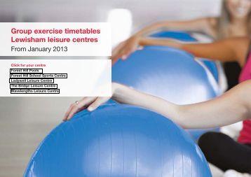 Group exercise timetables Lewisham leisure centres - Fusion Lifestyle