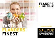 TASTE FLANDERS' FINEST - Flanders Investment & Trade