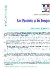 Recherche (research in France)