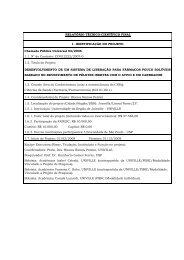 RELATÓRIO TÉCNICO-CIENTÍFICO FINAL 1 ... - fapesc