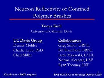 Neutron Reflectivity of Confined Polymer Brushes