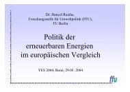Politik der erneuerbaren Energien im europäischen Vergleich