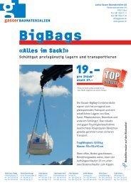 Aktion Big Bags - Gasser Baumaterialien AG
