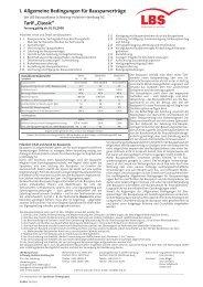 """I. Allgemeine Bedingungen für Bausparverträge Tarif """"Classic"""" - LBS"""