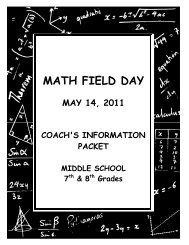MATH FIELD DAY - Fontana Unified School District