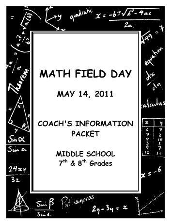 MATH FIELD DAY - Fontana Unified School District