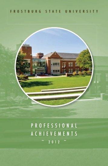 Professional Achievements 2012 - Frostburg State University