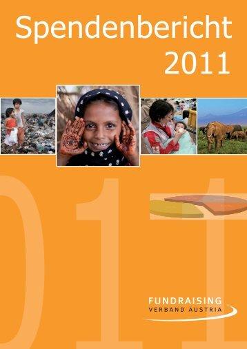 Spendenbericht 2011 - Fundraising Verband Austria