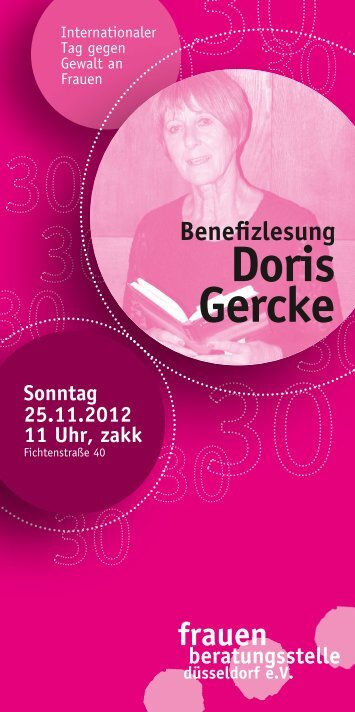 Doris Gercke - Frauenberatungsstelle Düsseldorf