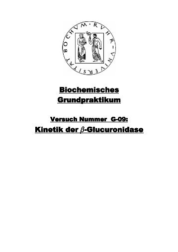 Kinetik der b-Glucuronidase - funnycreature.de