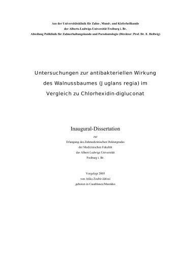 Inaugural-Dissertation - FreiDok - Albert-Ludwigs-Universität Freiburg