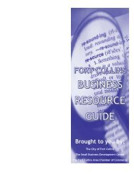 Business Resource Guide - Fort Collins Area Chamber Of Commerce