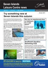 Seven Islands Leisure Centre news - Fusion Lifestyle