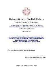 Università degli Studi di Padova - Formazione e Sicurezza
